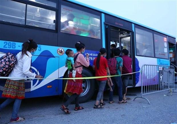Telegramme officiel sur le transport des residents vers les localites d'origine hinh anh 1