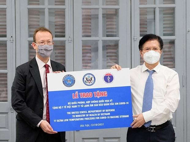 Le Vietnam recoit des congelateurs ultra-basse temperature donnes par les Etats-Unis hinh anh 1