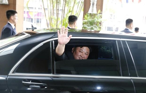 Le president Kim Jong-un termine sa visite officielle d'amitie au Vietnam hinh anh 1