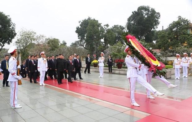 Le president Kim Jong-un termine sa visite officielle d'amitie au Vietnam hinh anh 6