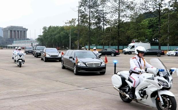Le president Kim Jong-un termine sa visite officielle d'amitie au Vietnam hinh anh 9
