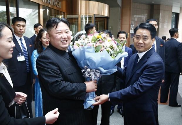 Le president Kim Jong-un termine sa visite officielle d'amitie au Vietnam hinh anh 2