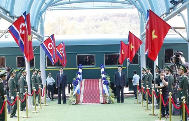 Le president Kim Jong-un termine sa visite officielle d'amitie au Vietnam hinh anh 13