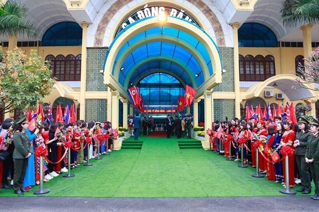 Le president Kim Jong-un termine sa visite officielle d'amitie au Vietnam hinh anh 11
