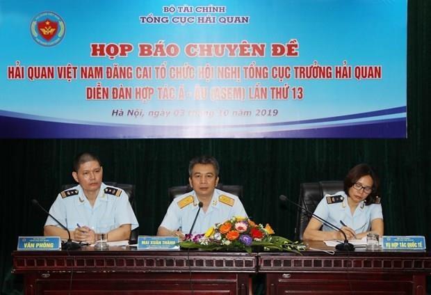 Le Vietnam accueille 13e conference des directeurs generaux des douanes de l'ASEM hinh anh 1