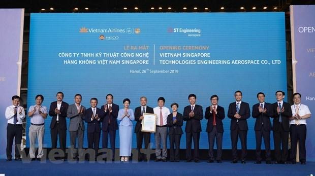 Un joint-venture d'ingenierie aerospatiale Vietnam-Singapour fait ses debuts hinh anh 2