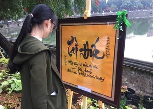 Les calligraphes donnent rendez-vous au Temple de la Litterature hinh anh 3