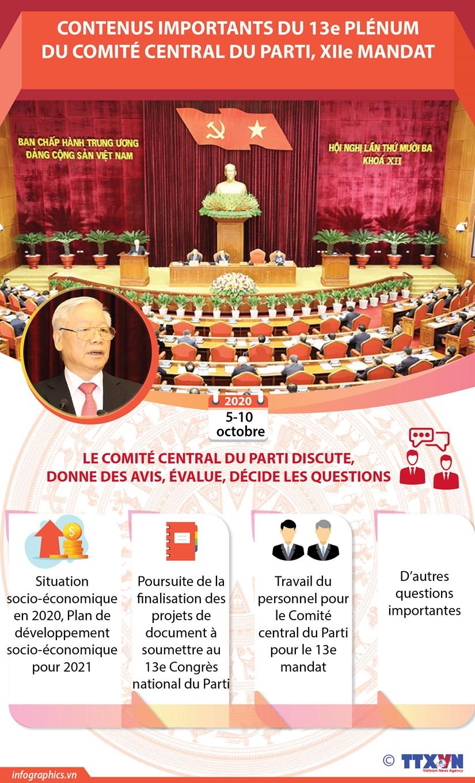 Contenus importants du 13e Plenum du Comite central du Parti hinh anh 1