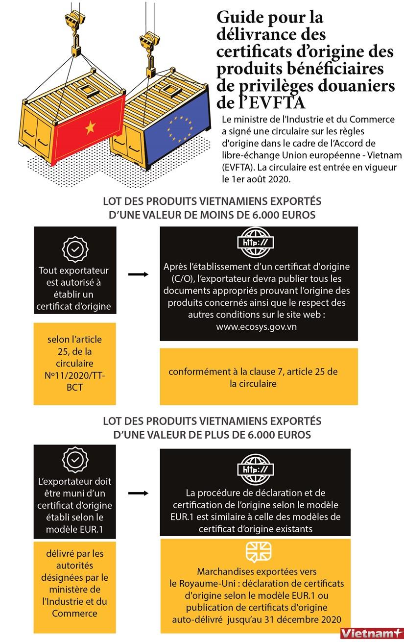 Guide pour la delivrance des certificats d'origine des produits dans le cadre de l'EVFTA hinh anh 1