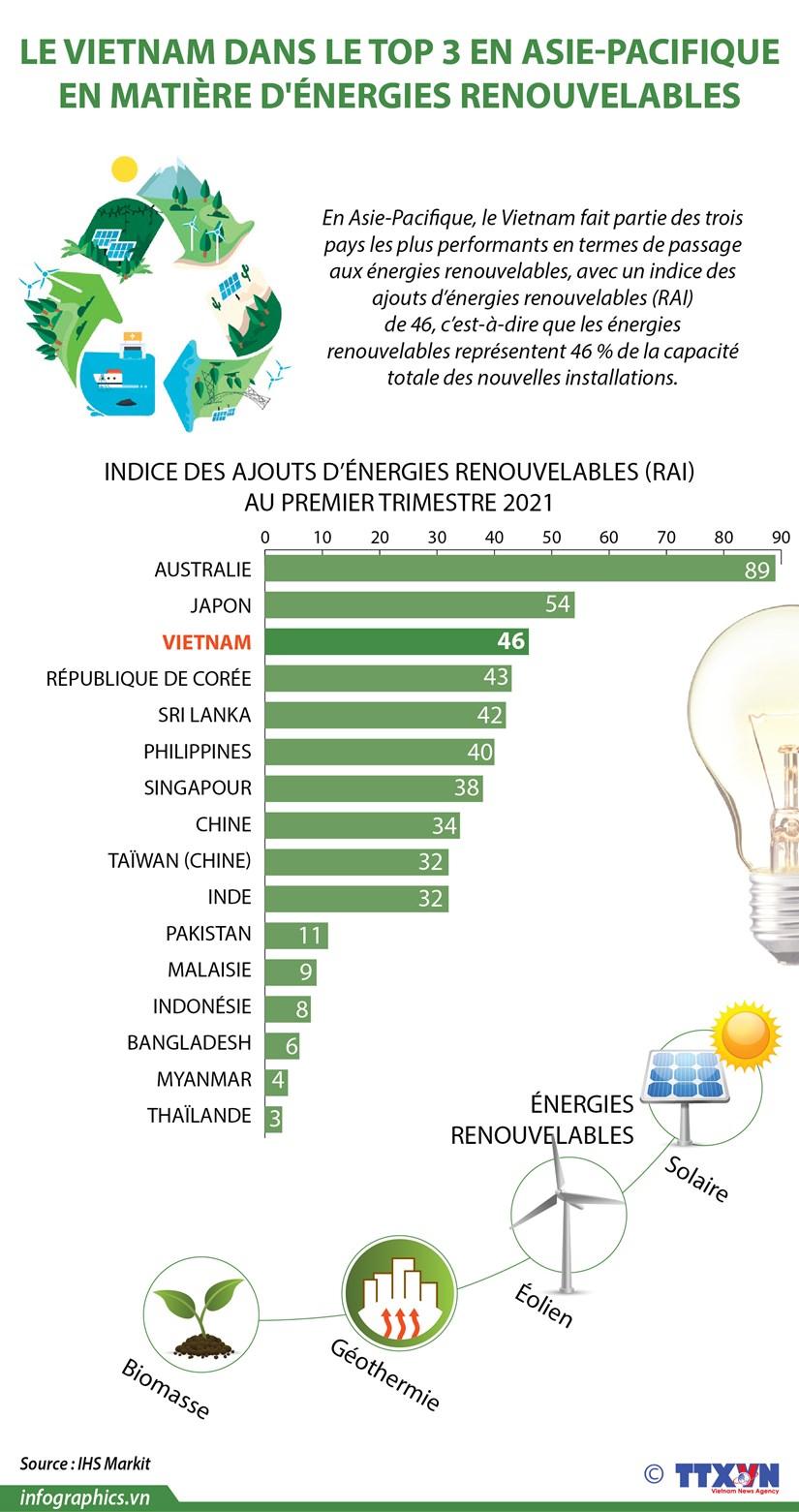 Le Vietnam dans le top 3 en Asie-Pacifique en matiere d'energies renouvelables hinh anh 1
