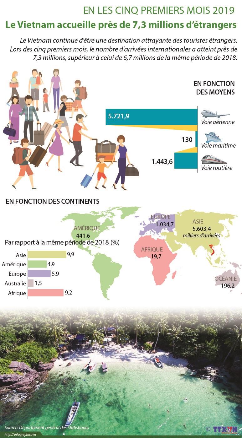 Le Vietnam accueille pres de 7,3 millions de touristes etrangers en cinq mois hinh anh 1
