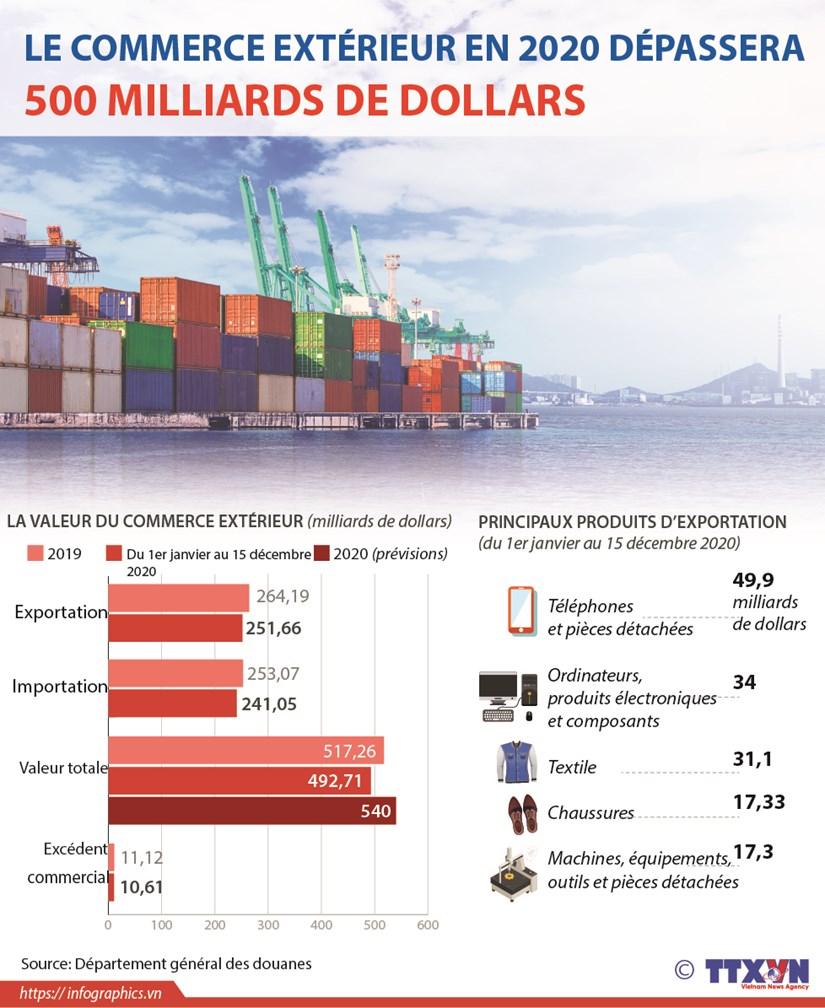Le commerce exterieur en 2020 depassera 500 milliards de dollars hinh anh 1