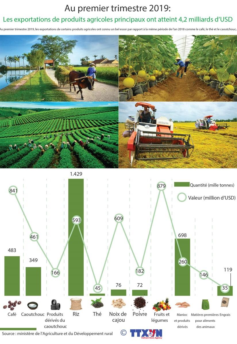 Les exportations de produits agricoles principaux ont atteint 4,2 milliards d'USD au 1er trimestre hinh anh 1