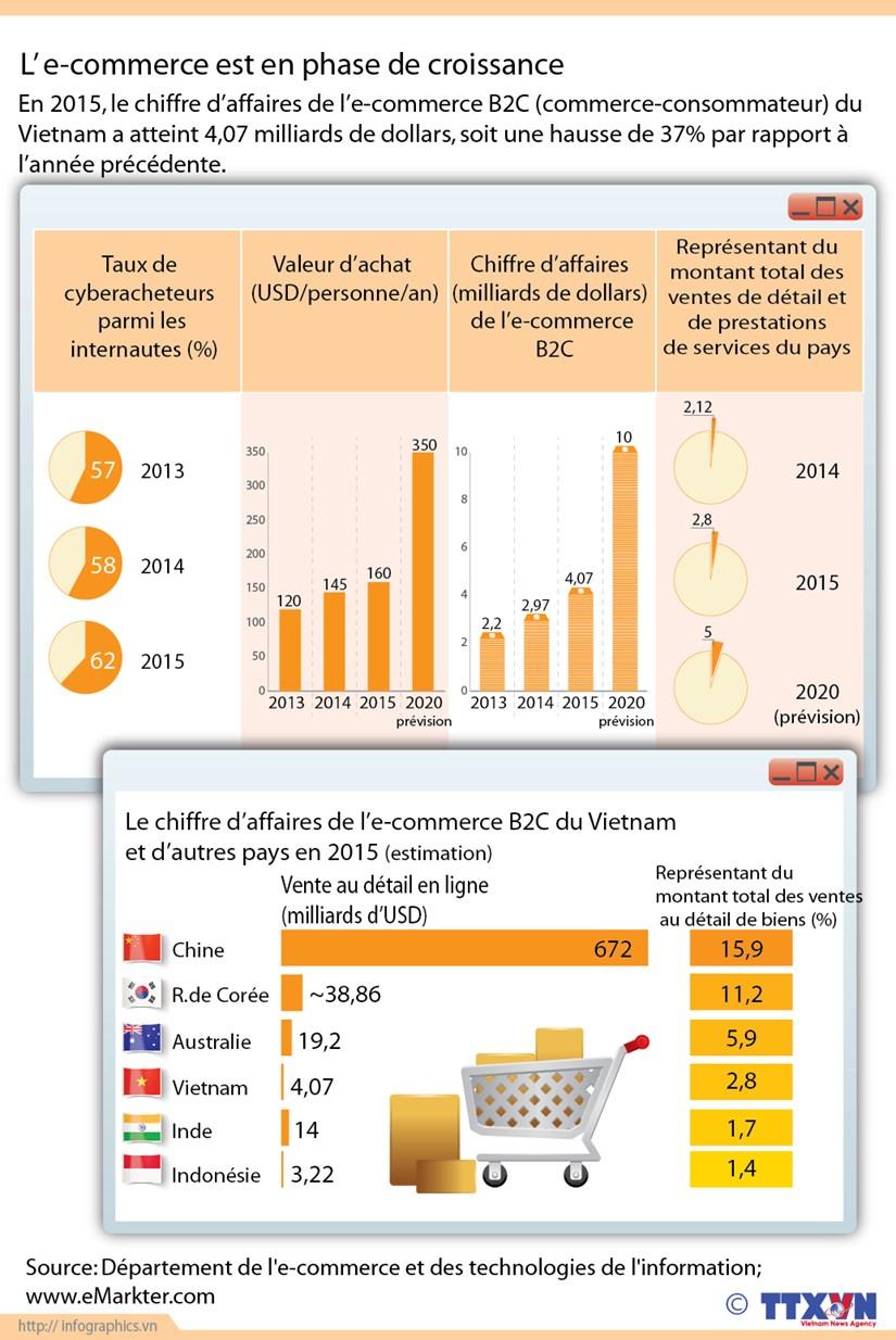 [Infographie] L'e-commerce en forte croissance au Vietnam hinh anh 1
