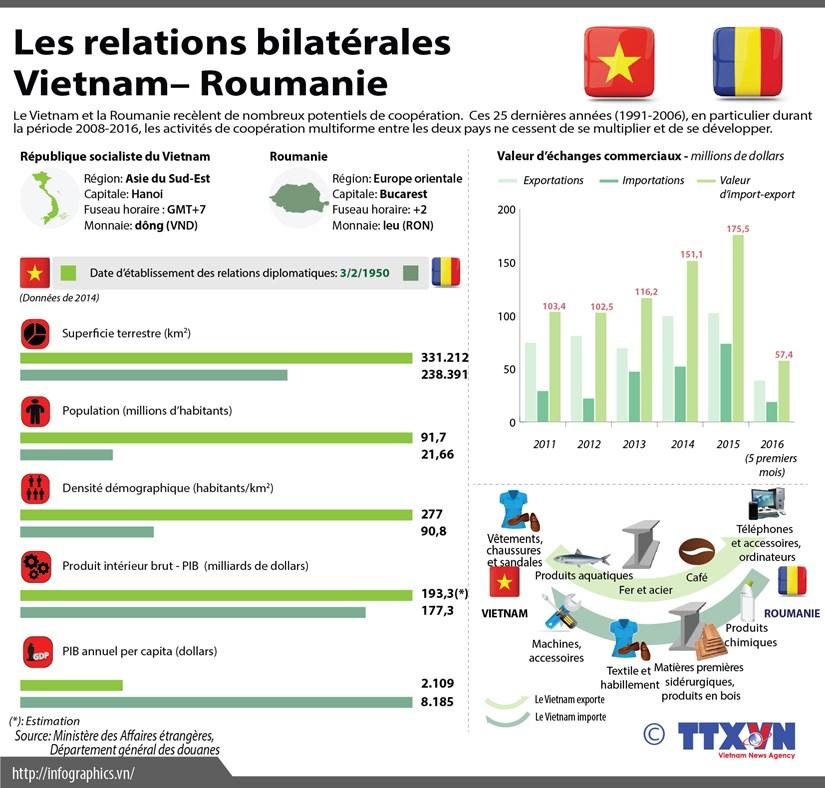 [Infographie] Les 25 ans de cooperation Vietnam - Roumanie hinh anh 1