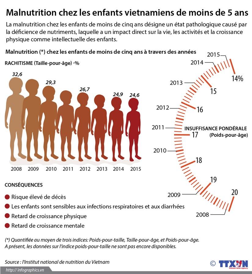 Malnutrition chez les enfants vietnamiens de moins de 5 ans hinh anh 1