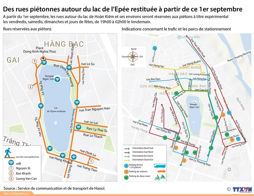 Des rues pietonnes autour du lac de l'Epee restituee a partir de ce 1er septembre hinh anh 1