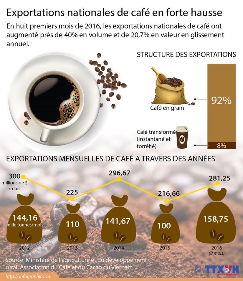 Exportations vietnamiennes de cafe en forte hausse hinh anh 1