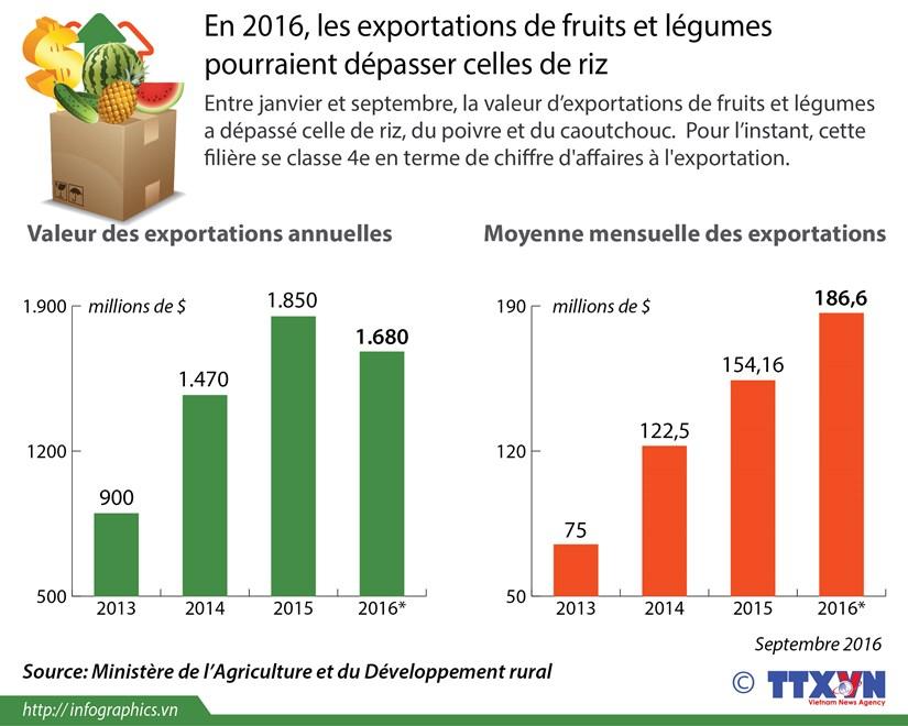 Les exportations de fruits et legumes pourraient depasser celles de riz hinh anh 1