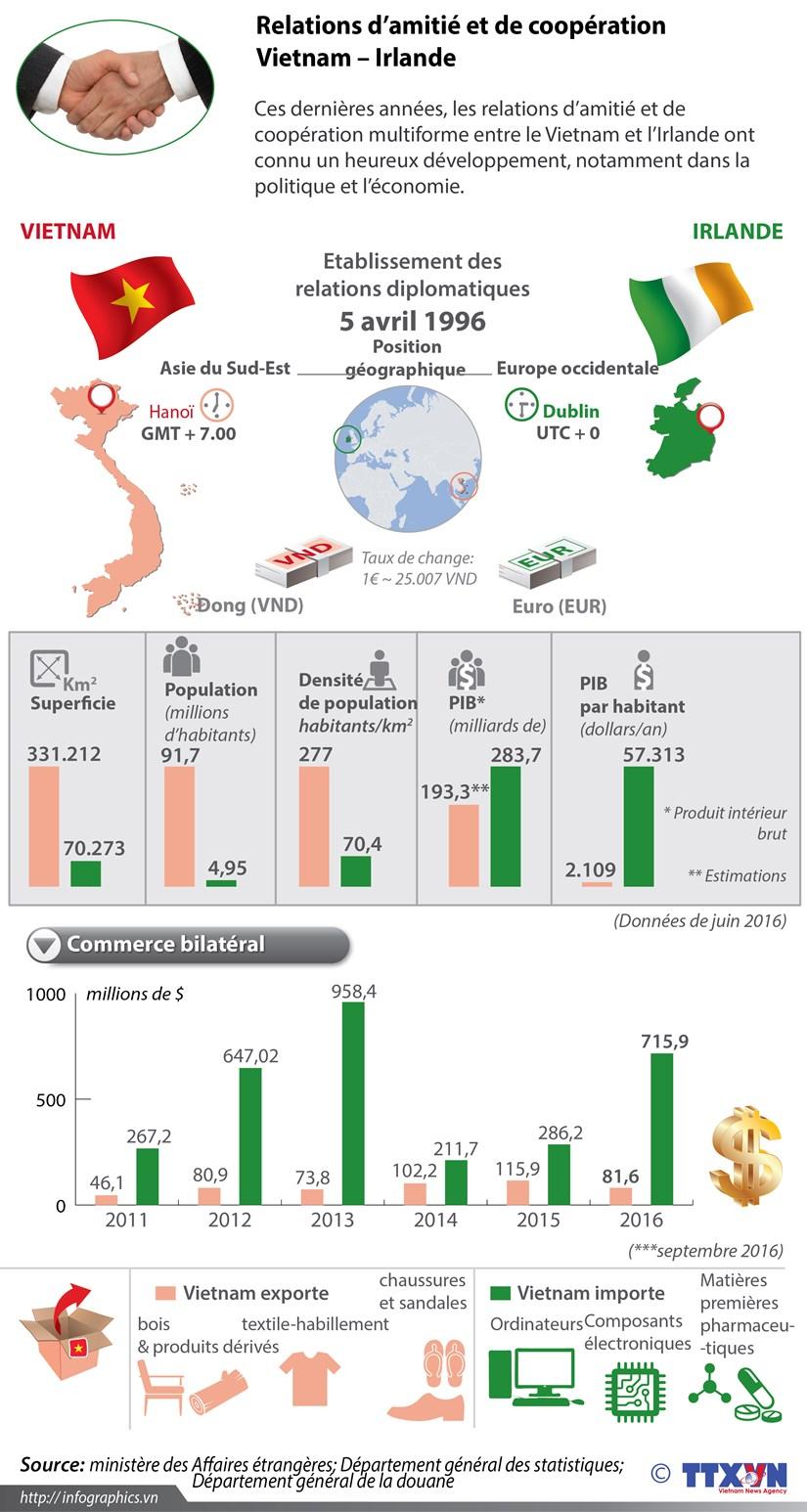 Relations d'amitie et de cooperation Vietnam – Irlande en infographie hinh anh 1