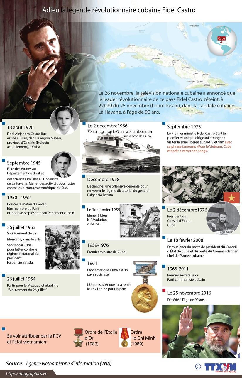 Adieu la legende revolutionnaire cubaine Fidel Castro hinh anh 1