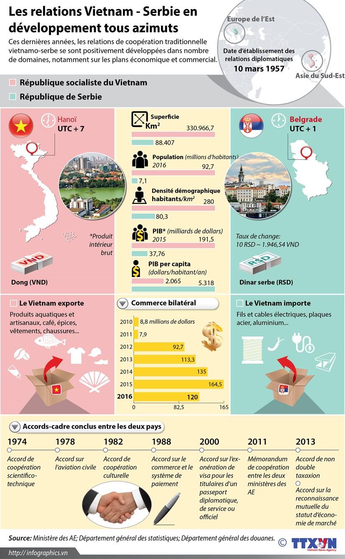 Les relations Vietnam - Serbie en developpement tous azimuts hinh anh 1