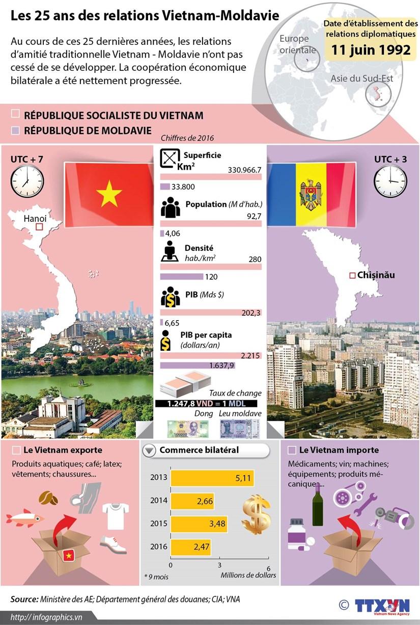Les 25 ans des relations Vietnam-Moldavie hinh anh 1