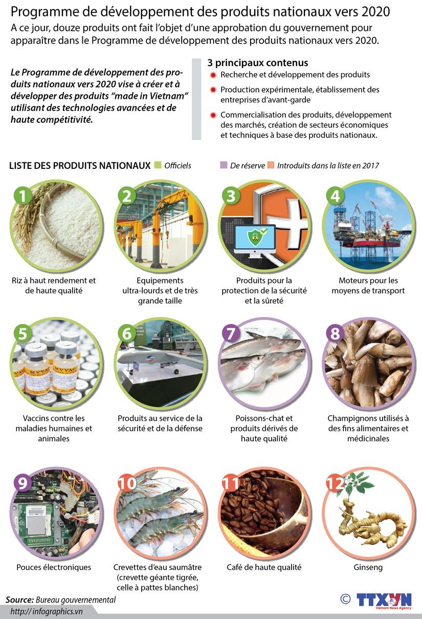 Programme de developpement des produits nationaux vers 2020 hinh anh 1