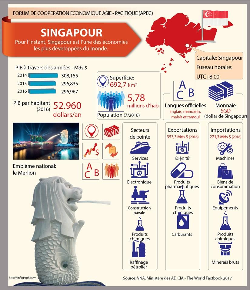[Infographie] Membres du Forum de cooperation economique Asie - Pacifique: Singapour hinh anh 1