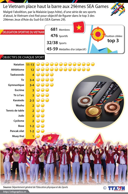 [Infographie] Le Vietnam place haut la barre aux 29emes SEA Games hinh anh 1
