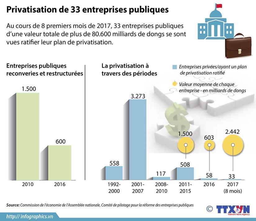 [Infographie] Privatisation de 33 entreprises publiques hinh anh 1