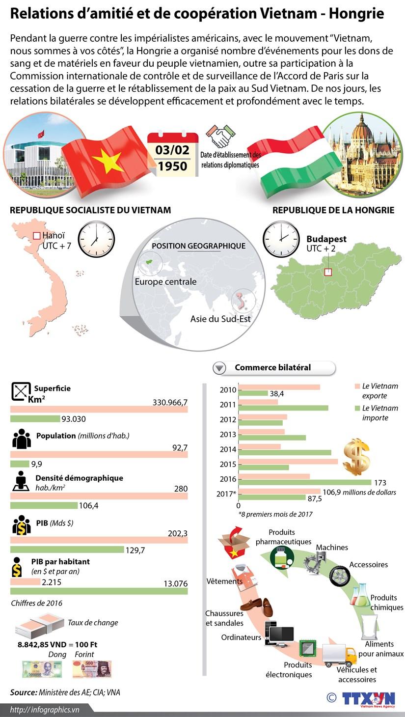 Les relations d'amitie et de cooperation Vietnam - Hongrie en infographie hinh anh 1
