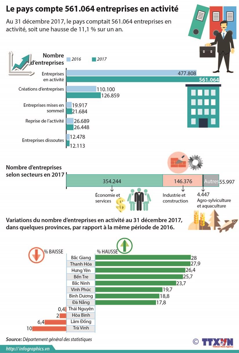 Le pays compte 561.064 entreprises en activite hinh anh 1