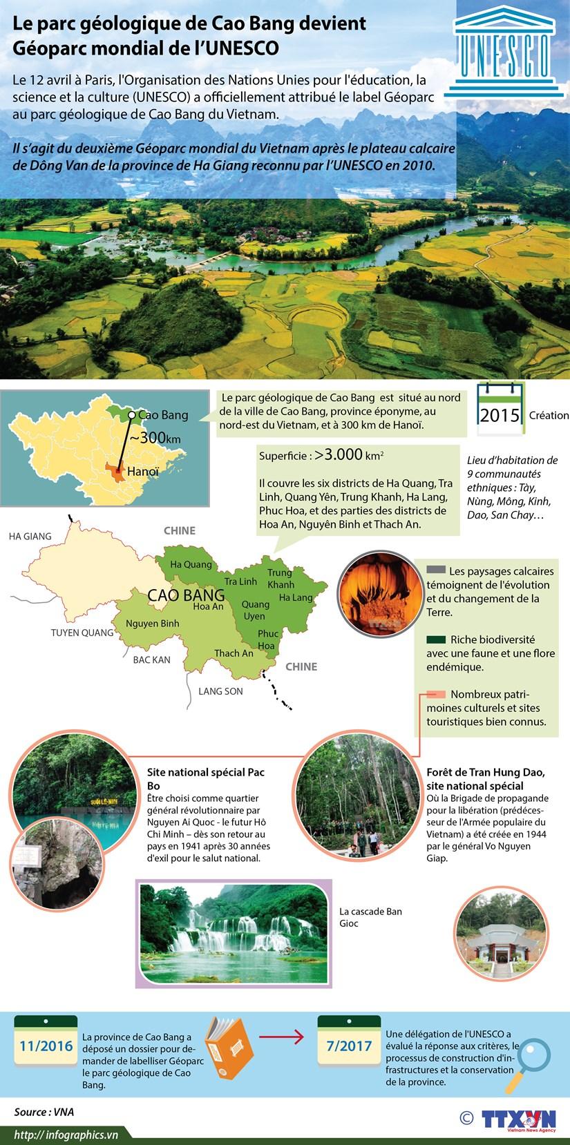 Le parc geologique de Cao Bang devient Geoparc mondial de l'UNESCO hinh anh 1