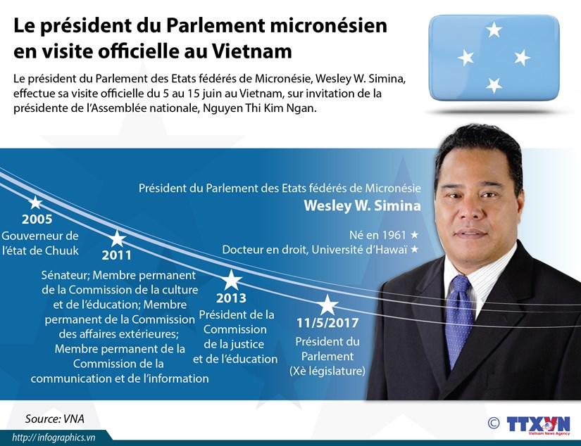 Le president du Parlement micronesien en visite officielle au Vietnam hinh anh 1