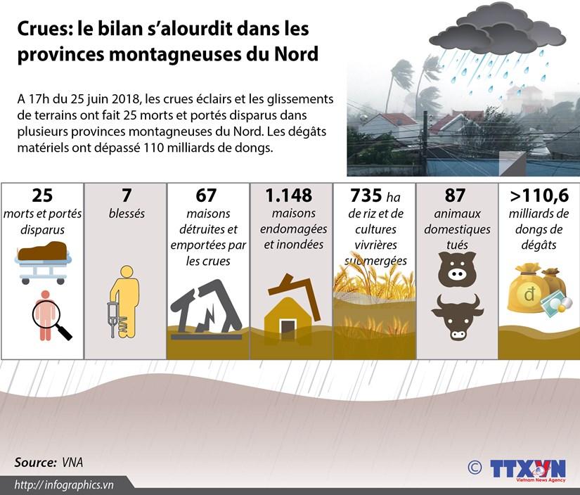 Crues: le bilan s'alourdit dans les provinces montagneuses du Nord hinh anh 1