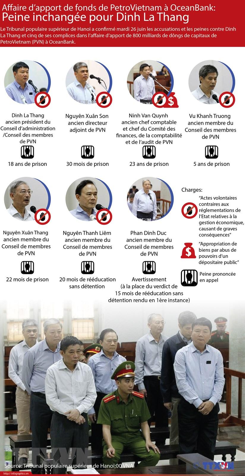 Affaire d'apport de fonds de PVN a OCB: Peine confoirmee pour Dinh La Thang hinh anh 1