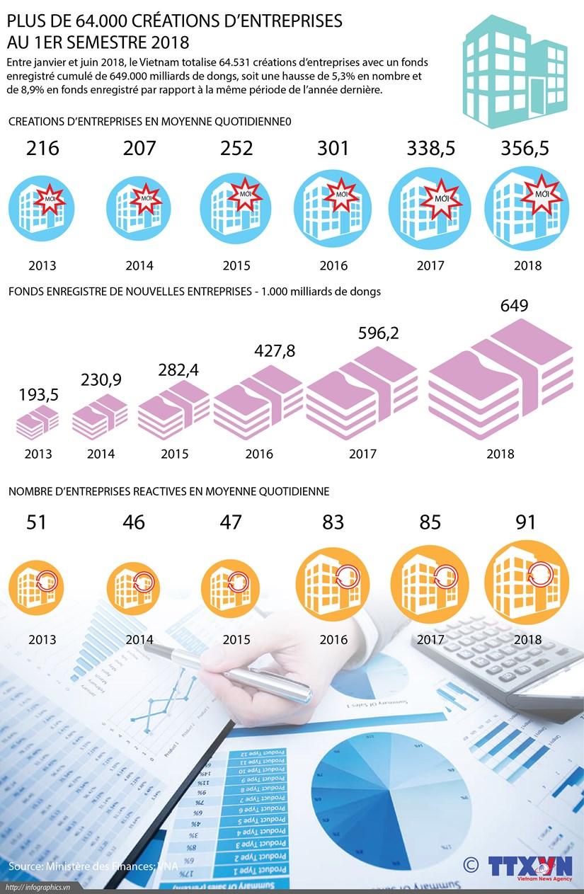 Plus de 64.000 creations d'entreprises au 1er semestre 2018 hinh anh 1