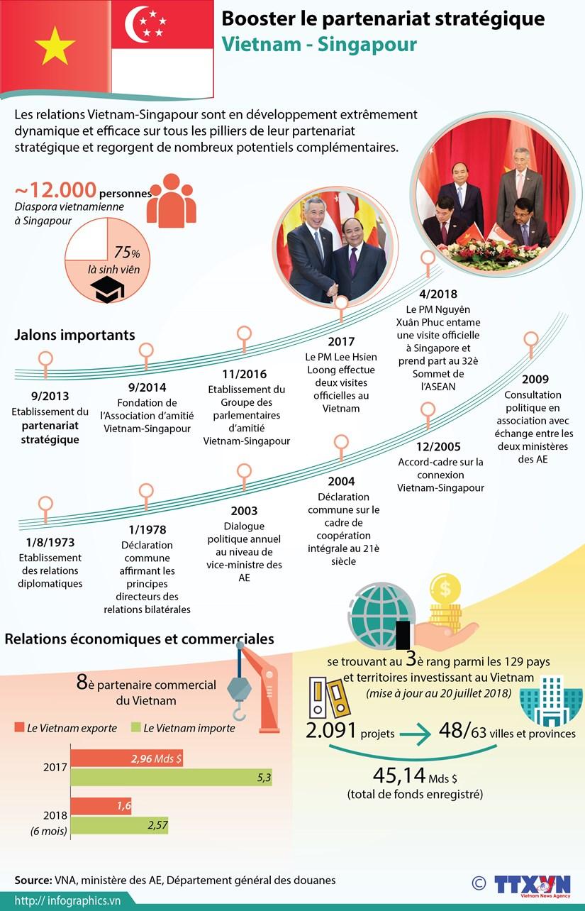 [Infographie] Booster le partenariat strategique Vietnam - Singapour hinh anh 1