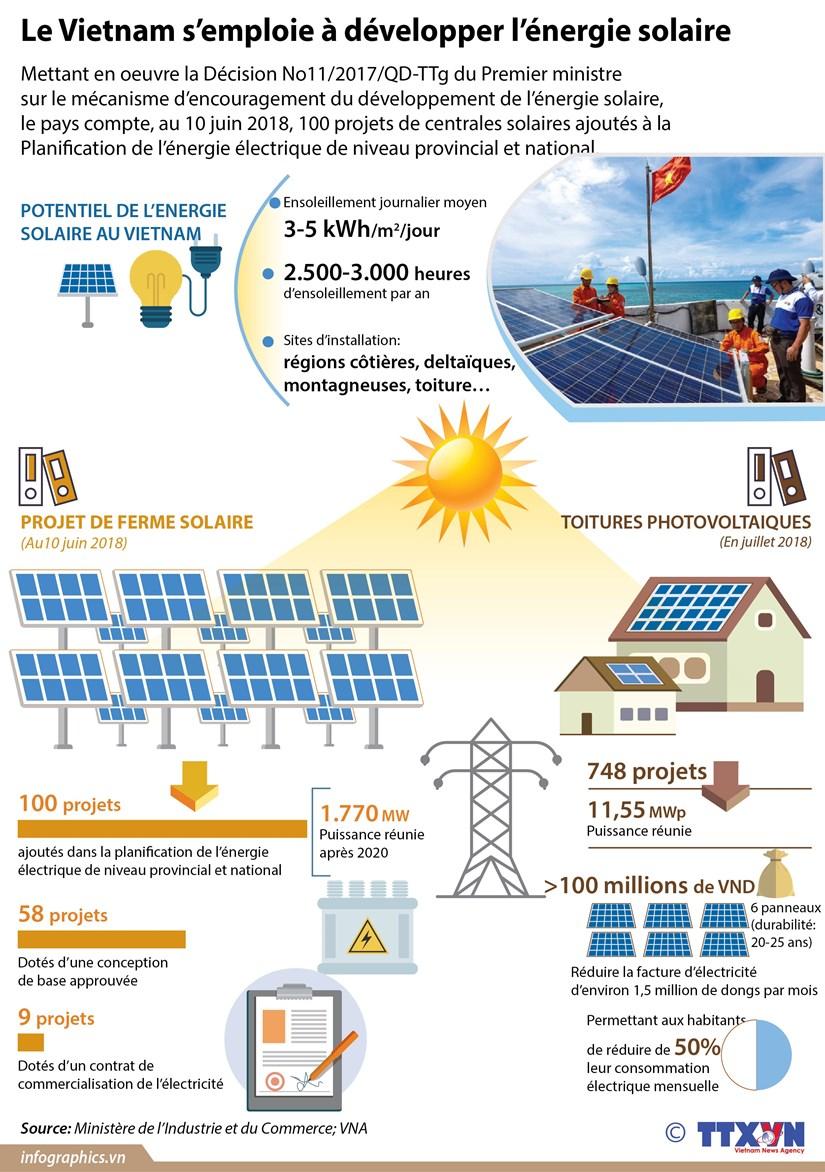 [Infographie] Le Vietnam s'emploie a developper l'energie solaire hinh anh 1