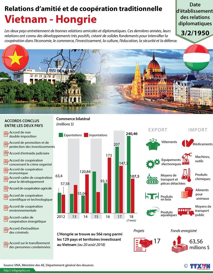 [Infographie] Relations d'amitie et de cooperation traditionnelle Vietnam - Hongrie hinh anh 1