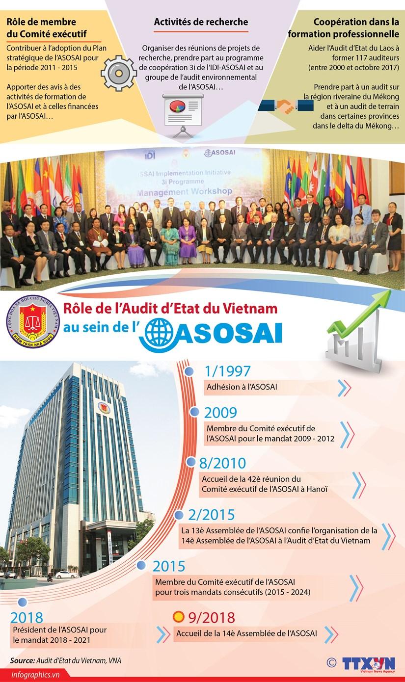 [Infographie] Role de l'Audit d'Etat du Vietnam au sein de l'ASOSAI hinh anh 1