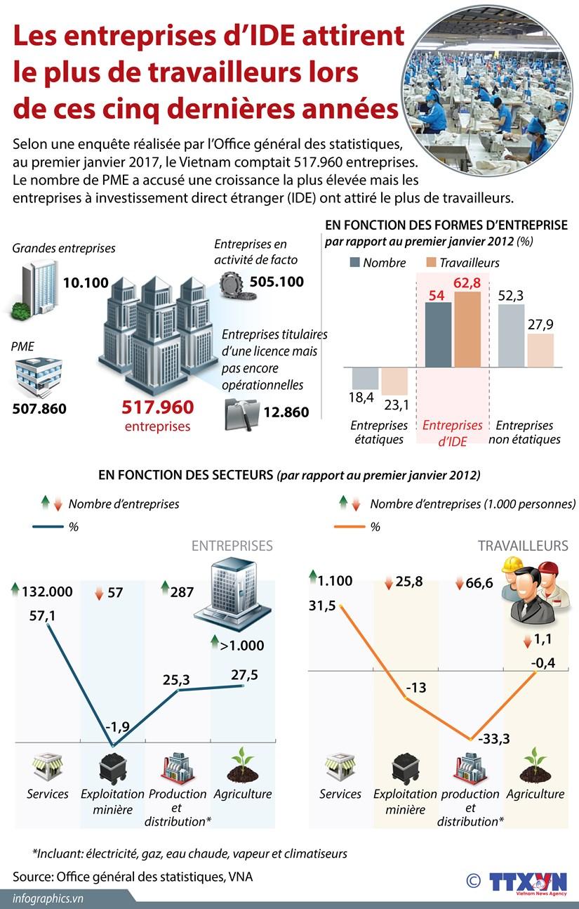 [Infographie] Les entreprises d'IDE attirent le plus de travailleurs hinh anh 1