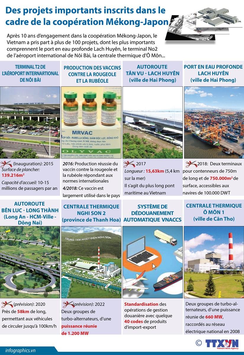 [Infographie] Des projets importants inscrits dans le cadre de la cooperation Mekong-Japon hinh anh 1