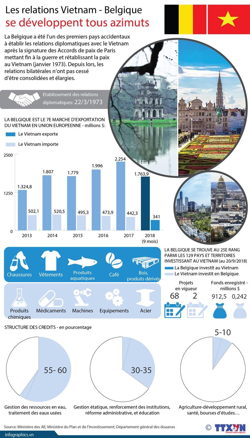 [Infographie] Les relations Vietnam - Belgique se developpe tous azimuts hinh anh 1