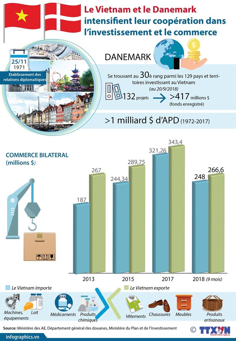 [Infographie] Cooperation Vietnam - Danemark dans l'investissement et le commerce hinh anh 1