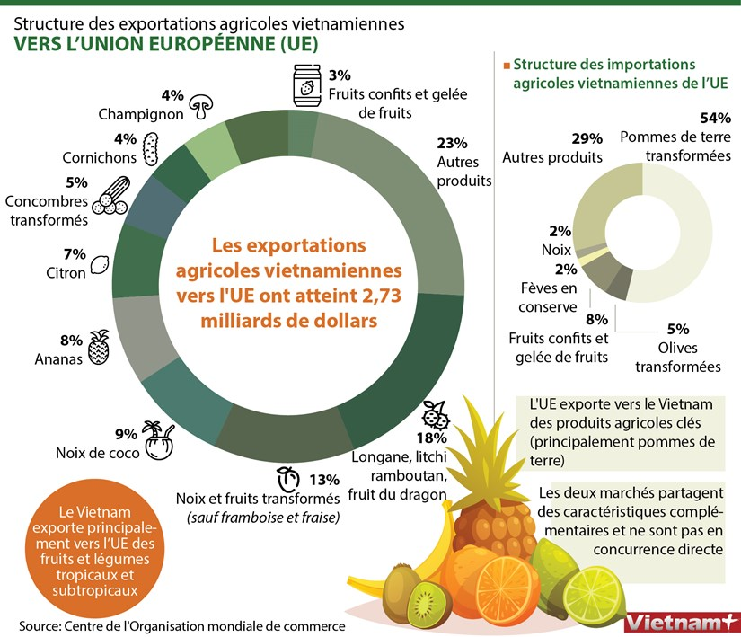 Structure des exportations agricoles vietnamiennes vers l'Union europeenne hinh anh 1