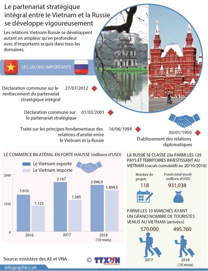 Developpement du partenariat strategique integral Vietnam-Russie hinh anh 1