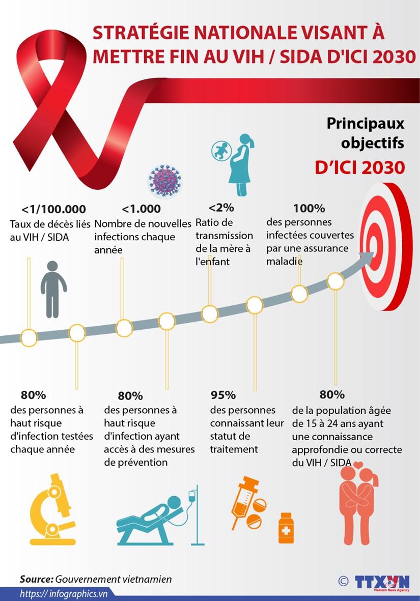 Strategie nationale visant a mettre fin au VIH / SIDA d'ici 2030 hinh anh 1