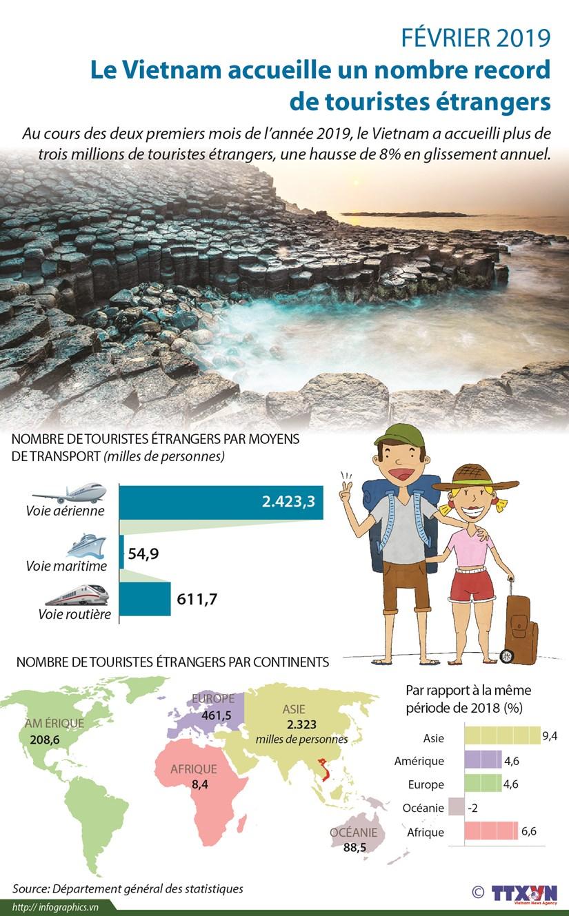Le Vietnam accueille un nombre record de touristes etrangers en fevrier hinh anh 1